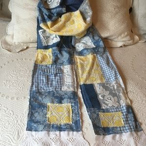 Upcycled Repurposed Patchwork Boho Scarf